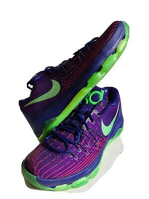 Nike KD 8 Suit Mens 749375-535 Purple Green Durant Basketball Shoes Size 10.5