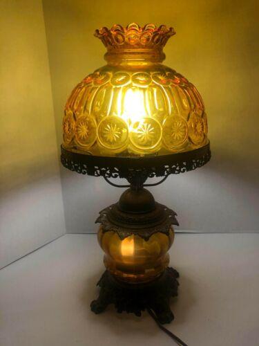 "Vintage Auburn 3 Way Hurricane Lamp19"""