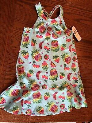 NAUTICA Toddler Girl's Blue Fruit Pattern  Sundress Size 4T