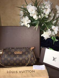 Louis Vuitton Monogram Eva Clutch Bag Receipt, Box & Dustbag!