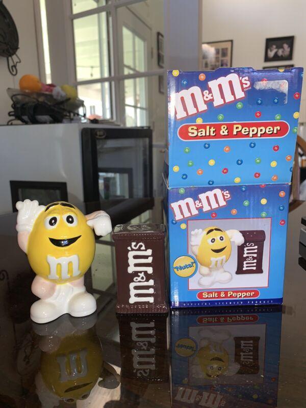 Benjamin & Medwin  Yellow M&Ms Salt And Pepper Shakers
