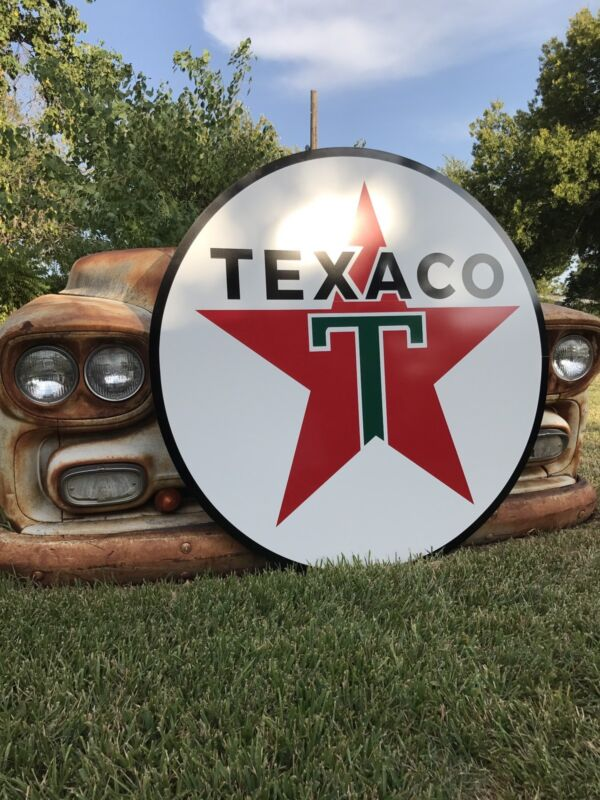 """Antique Vintage Old Style Texaco Gas Oil Sign! 40""""!"""