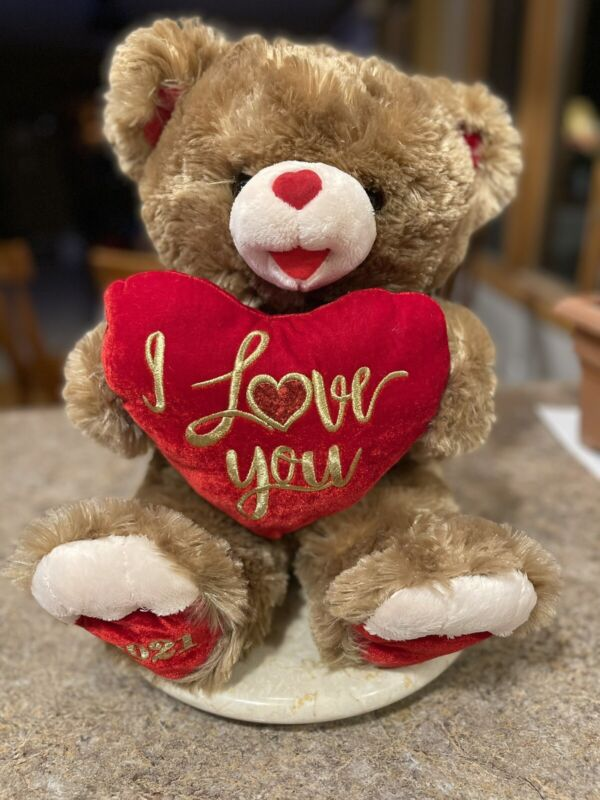 "MTY International Sweetheart Teddy Bear Plush 13"" Valentine's Day Stuffed 2021"