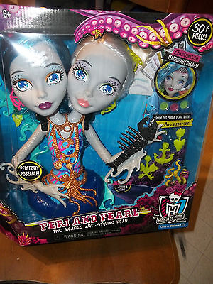 NEW Monster High Peri and Pearl Serpentine Two Headed Styling Head Toy