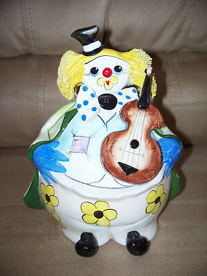 Zampiva Vintage Clown Bank Signed Ceramic Made In Italy  for sale  Shipping to Ireland
