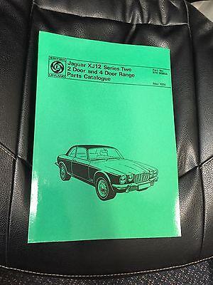 Jaguar XJ12 Series 2 Car Parts manual RTC 9089A book Catalogue Paper 1974