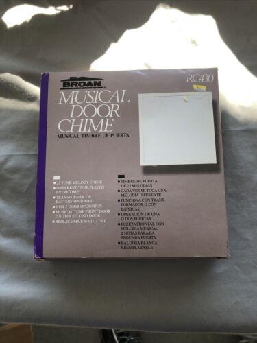 BROAN DOOR CHIME 25 Tune Melody Musical RC430 1 DOOR OR 2 DOORS White Tile - $30.00