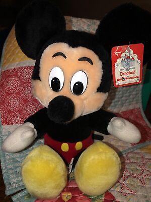 "Vintage Mickey Mouse 7"" Plush Classic Walt Disney World Disneyland 80s Toy"