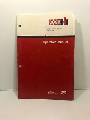 Case Ih 3309 Disc Mower Operators Manual 9-15080