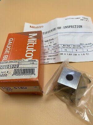 Mitutoyo .875 Gauge Block Set New 100.516u