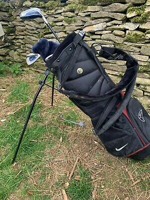 Nike Junior Golf Club Set kids size 2 Tiger Woods Steel young childrens bag