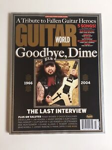 Guitar World Magazine Goodbye, Dime Dimebag Darrel 2005