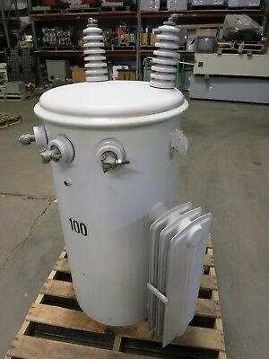 Ermco 100 Kva 12000 To 240480 V Pole Mount Transformer 100kva 240v 480v Mounted