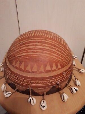 Wunderschöne afrikanische Trümell aus Echte Holz und Läder, Handarbeit