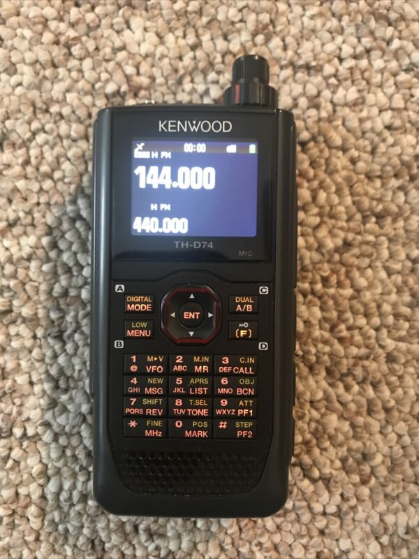 Kenwood TH-D74A Tri-band - Excellent Condition w/ rapid charger, soft case, 32gb
