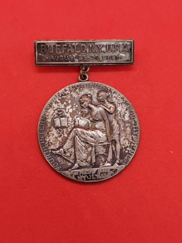 1913 Buffalo NY International Congress On School Hygiene Medal
