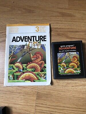 Adventure / Picture Label Cart & Instructions Atari 2600 Tested & Working / PAL
