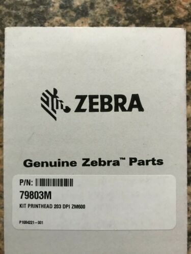 Genuine Zebra ZM600 Printhead 203 dpi (79803M) New Sealed