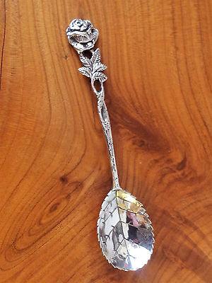 Löffelchen, 800er Silber, Löffel, Rose, Rosenblatt