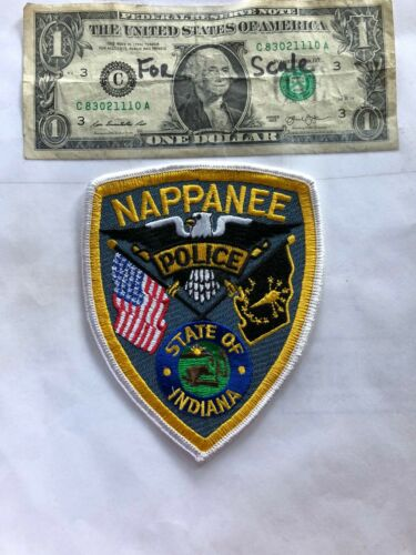 Nappanee Indiana Police Patch Un-sewn great shape