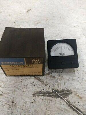 Vintage Westinghouse Electrical Panel Meter Gauge 800-0-800 Milliamperes Dc