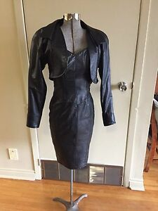 Leather Dress and jacket
