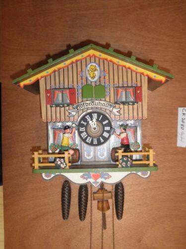 German made working  musical Chalet Hofbrauhaus 1 Day Cuckoo Clock CK2080