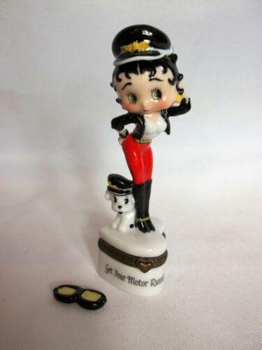 "Betty Boop Figurine Hinged Porcelain Trinket Box, ""…Motor Running"""