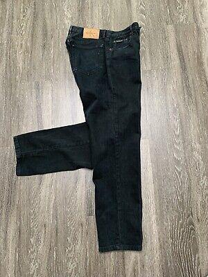 Calvin Klein Jeans Mens 32 Black Straight Denim CK