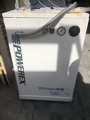 Powerex Oil Free Scroll Air Compressor Lab Dental Medical Restaurant Tank