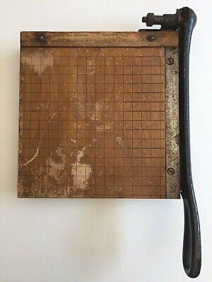 Vintage Ingento No. 2 Paper Cutter 8.5 Ruler Burke James Guillotine Trimmer