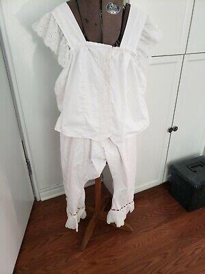 3 items XXL corset cover camisole pantaloon set plus tan knee breeches