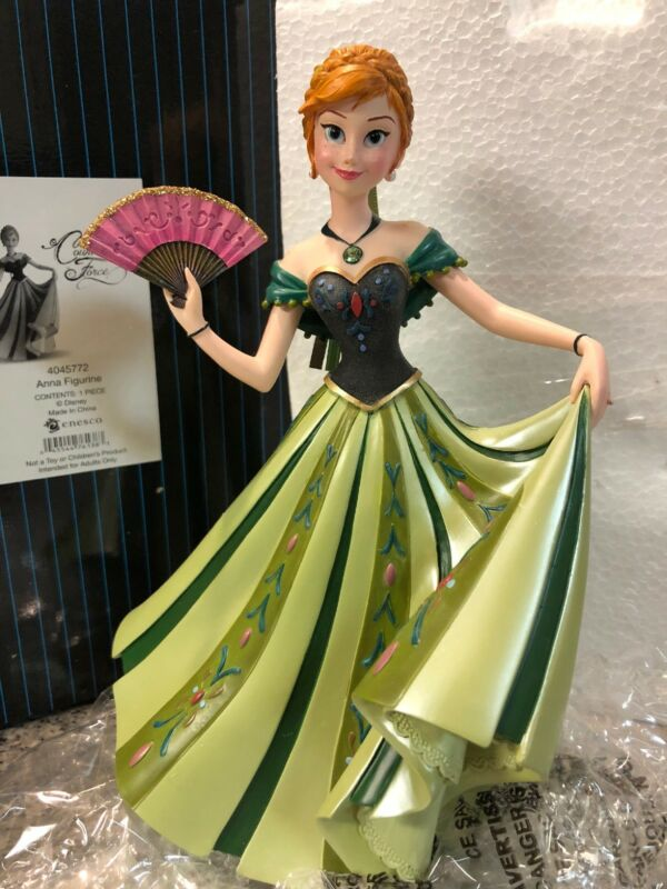 "Disney Showcase Couture de Force Frozen Anna 7"" Statue Figurine Enesco Authentic"
