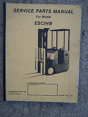 1988 Yale Eschb Forklift Truck Service Parts Manual More Lift Items In Store V