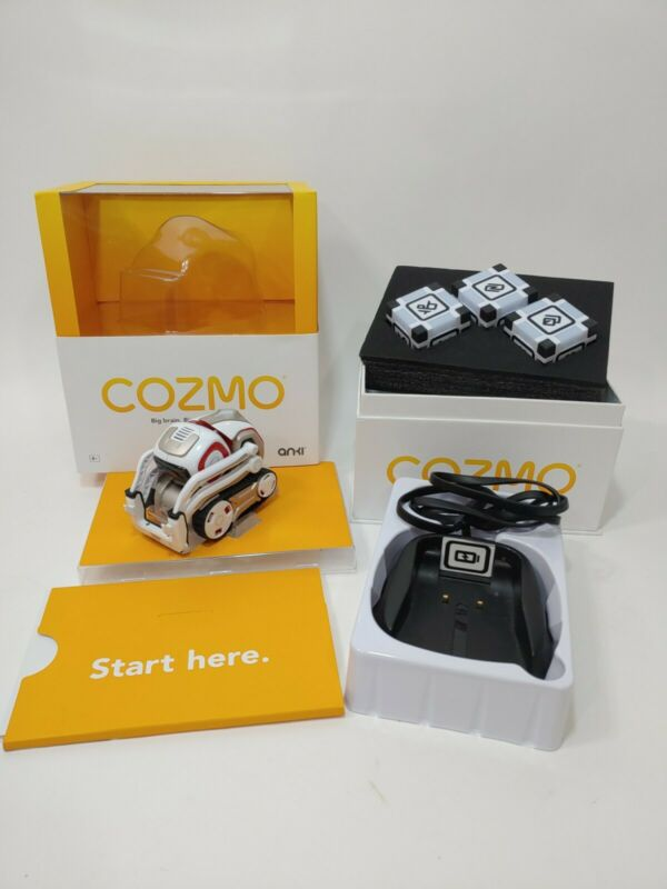 Anki Cozmo Robot White Red Cosmo 3 Cubes charger educational fun toy