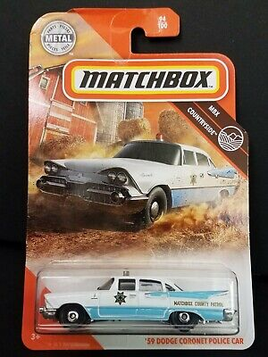 2020 Matchbox MBX Countryside 94/100 '59 DODGE CORONET POLICE CAR BOX SHIP FREE