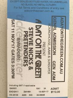4 tickets Stevie Knicks and the pretenders at Bimbadgen