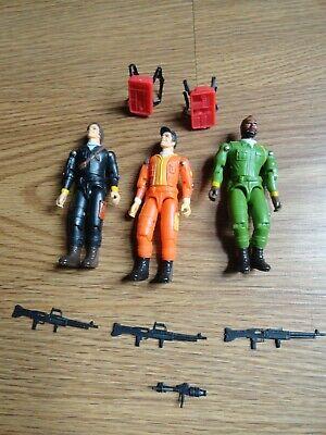 Vintage 1983 A-Team Figure lot of 3 BA Face Murdock weapons accessories Nice!