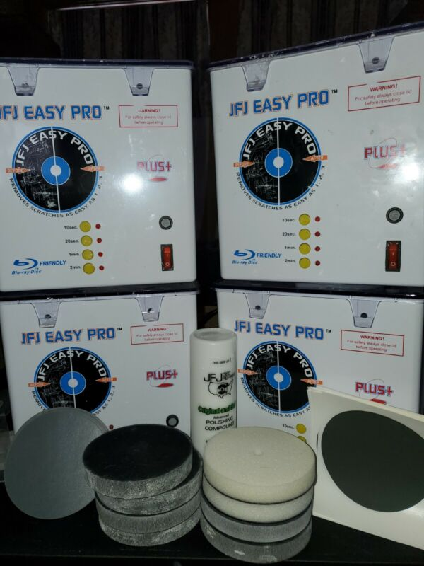 (1) Working JFJ Easy Pro CD/DVD/Video Game Disc Repair Machine from Lot of 4