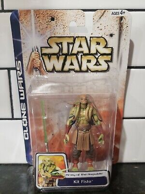 Star Wars 2003 Clone Wars Jedi Master Kit Fisto #49 Army of The Republic Figure