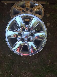 Gmc truck rims pair 2