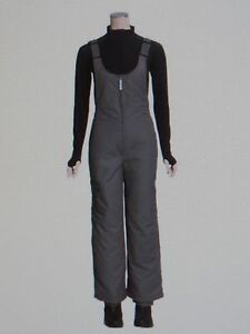 NEW Women's Black White Sierra Insulated Bib Overalls