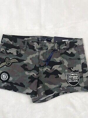 Camo Booty (Womens Camo Boom Boom Booty Shorts Size 9  E18)