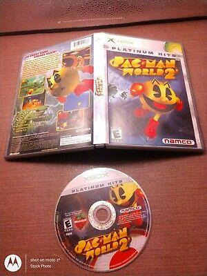 Microsoft OG Xbox Disc No Manual Tested Pac-Man World 2 Platinum Hits Ships Fast