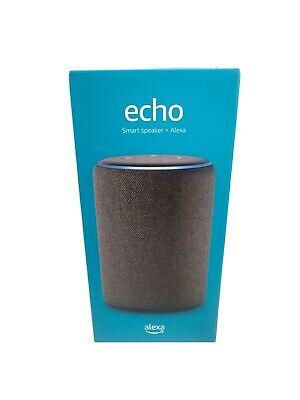 Sealed Amazon - Echo (3rd Gen) Smart Speaker with Alexa - Charcoal Brand New