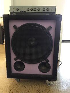 Gallien Krueger bass amp and 15 inch speaker