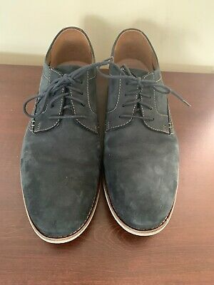 Clarks Mens Desert Blue Summer Suede Oxford Casual Lace Shoes Size 9.5 Medium