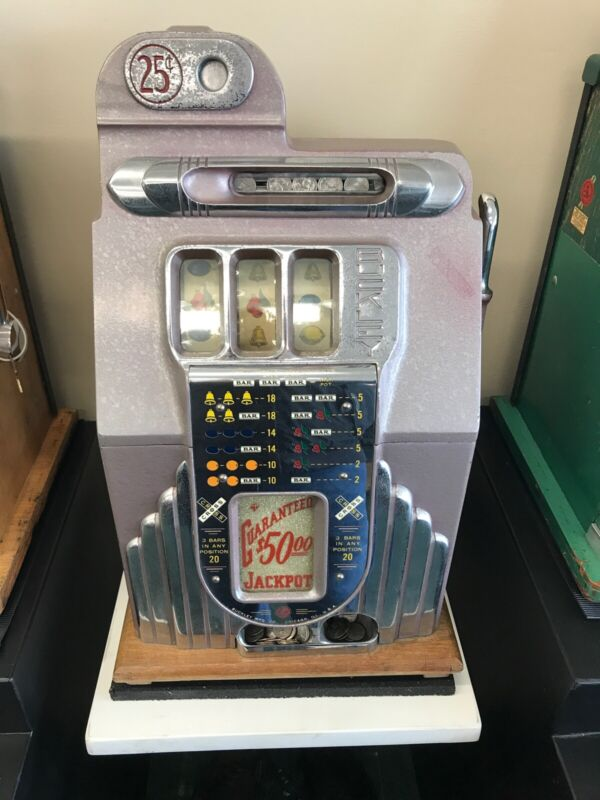 $0.25 Vintage Buckley Slot Machine Recently Serviced