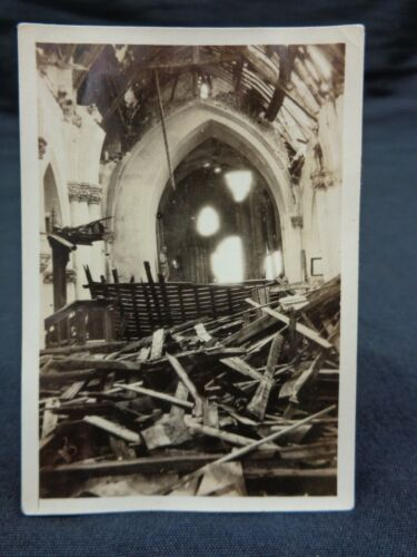 Original WW1 SOMME Photo of the RUINED CHURCH at VAUVILLERS (Taken by Soldier)