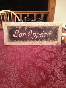 "20"" w x 8"" h, like brand new condition Bon Appetit sign.  Kingston Kingston Area image 1"